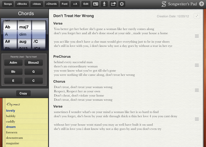 Free Songwriting Software App For Ipad