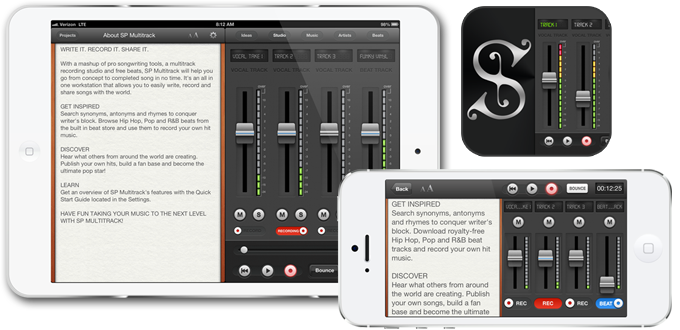 Songwriter's Pad Multitrack Recording Studio for iPad & iPhone
